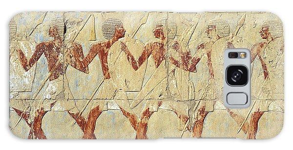 Chapel Of Hathor Hatshepsut Nubian Procession Soldiers - Digital Image -fine Art Print-ancient Egypt Galaxy Case