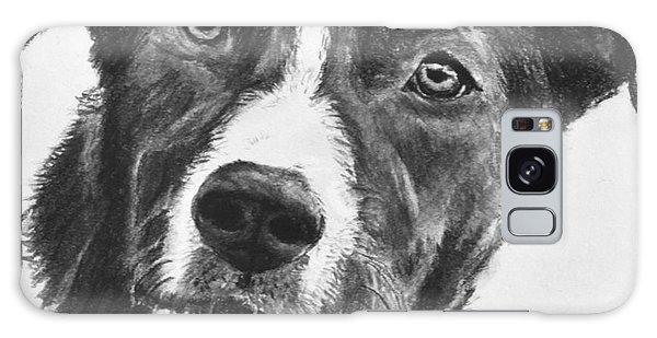 Charcoal Dog Shepherd Galaxy Case
