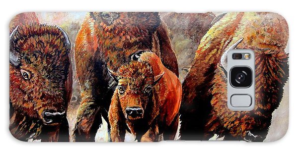 Charging Buffalo Galaxy Case by Ruanna Sion Shadd a'Dann'l Yoder