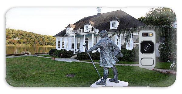 Charles Darwin Statue Cold Spring Harbor New York Galaxy Case by Bob Savage