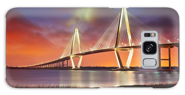 Evening Galaxy Case - Charleston Sc - Arthur Ravenel Jr. Bridge Cooper River by Dave Allen
