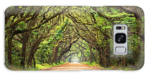 Old Road Galaxy Case - Charleston Sc Edisto Island - Botany Bay Road by Dave Allen