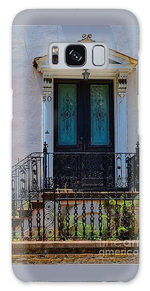 Charleston Wood Door Etched Glass Galaxy Case