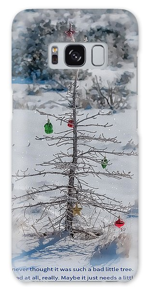 Charlie Brown Christmas Tree Galaxy Case