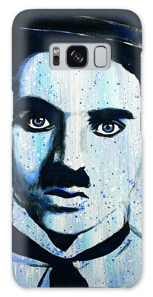 Charlie Chaplin Little Tramp Portrait Galaxy Case