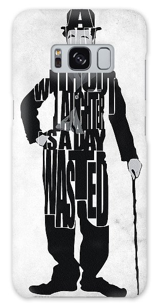 Charlie Chaplin Typography Poster Galaxy Case