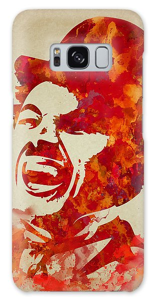 Charlie Chaplin Watercolor Painting Galaxy Case