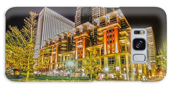 Charlotte City Skyline Night Scene Galaxy Case