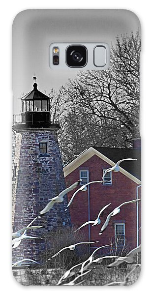 The Charlotte Genesee Lighthouse Galaxy Case by Richard Engelbrecht