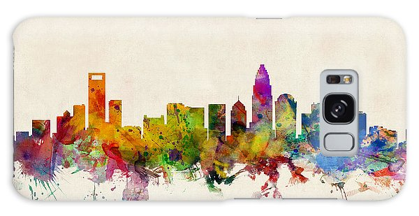 Watercolour Galaxy Case - Charlotte North Carolina Skyline by Michael Tompsett