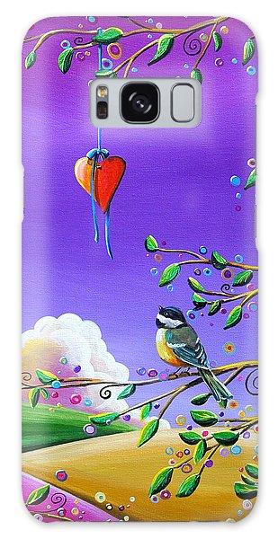 Chickadee Galaxy S8 Case - Cherish by Cindy Thornton
