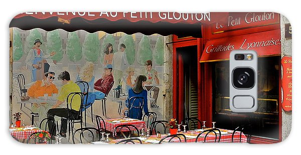 Charming French Outdoor Cafe Galaxy Case by Kirsten Giving