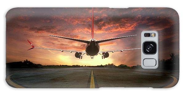 Airplanes Galaxy Case - Chasing The Sunset by Ganjar Rahayu