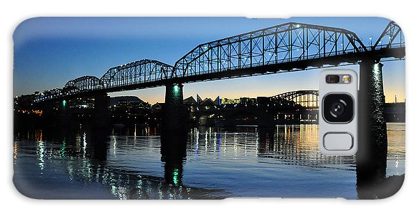 Galaxy Case featuring the photograph Tennessee River Bridges Chattanooga by Matthew Chapman