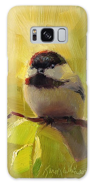 Chatty Chickadee - Cheeky Bird Galaxy Case