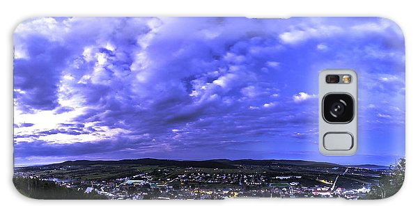 Checiny Town Blue Hour Panorama Galaxy Case by Julis Simo