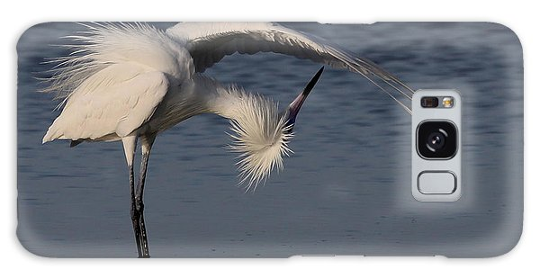 Checking For Leaks - Reddish Egret - White Form Galaxy Case