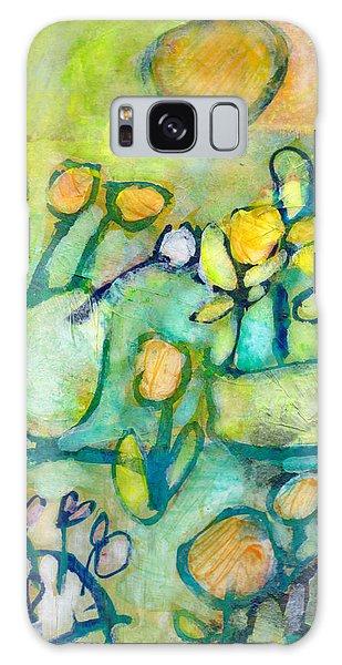 Cheerful Garden Galaxy Case by Catherine Redmayne