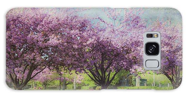 Cheery Cherry Trees - Nostalgic Galaxy Case by Karen Stephenson