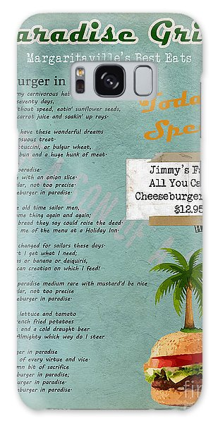 Cheeseburger In Paradise Jimmy Buffet Tribute Menu  Galaxy Case