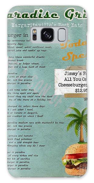 Cheeseburger In Paradise Jimmy Buffet Tribute Menu  Galaxy Case by Nola Lee Kelsey