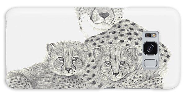 Cheetah And Her Cubs Galaxy Case by Patricia Hiltz