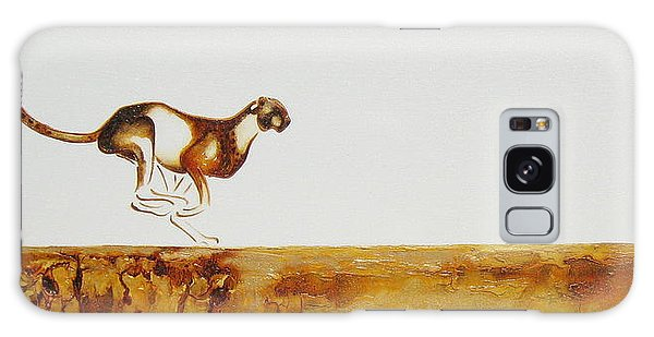 Cheetah Race - Original Artwork Galaxy Case