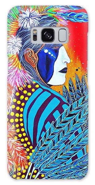 Cherokee Dancer Galaxy Case by Debbie Chamberlin
