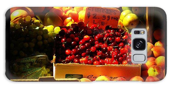 Cherries 299 A Pound Galaxy Case by Miriam Danar