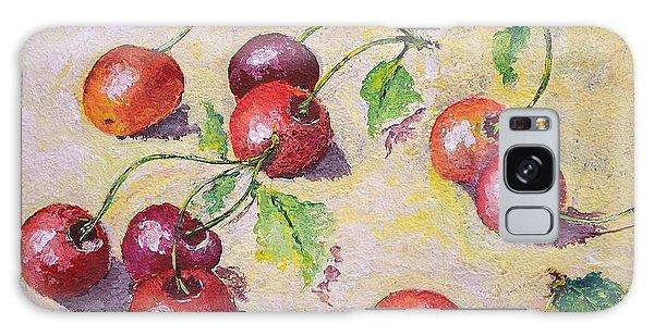 Cherries On The Ground Galaxy Case by Kathleen Pio
