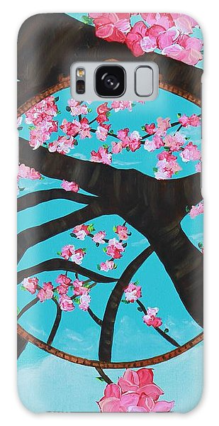 Galaxy Case featuring the painting Cherry Blossom by Aliya Michelle