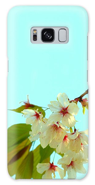 Cherry Blossom Flowers Galaxy Case by Rachel Mirror