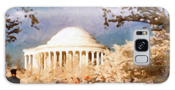 Cherry Blossom Jefferson Memorial 1950s Galaxy Case