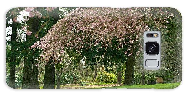 Cherry Blossom Galaxy Case by Sabine Edrissi