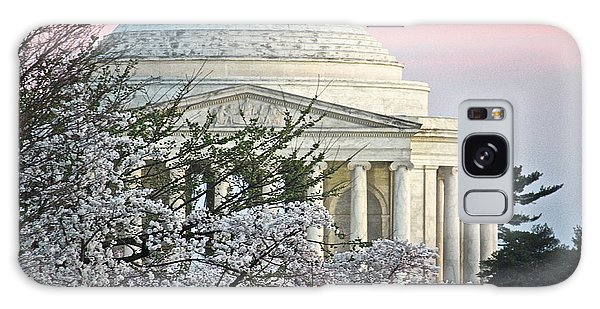 Cherry Blossom Sunset Galaxy Case