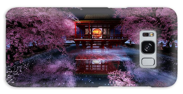 Cherry Blossom Tea House Galaxy Case