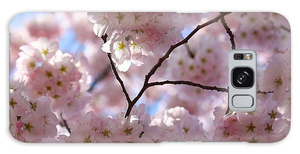 Cherry Blossoms And Blue Sky-1 Galaxy Case