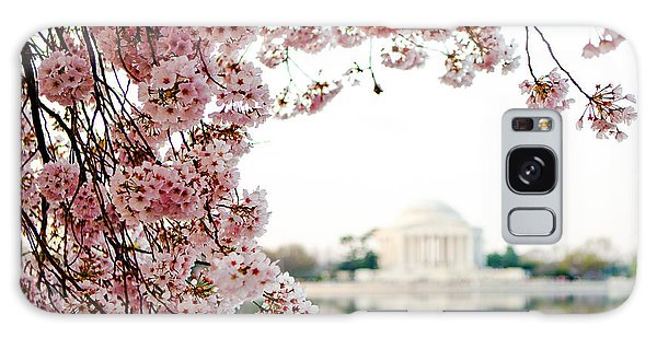 Cherry Blossoms Framing The Jefferson Memorial Galaxy Case
