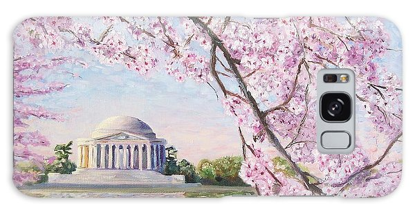 Washington D.c Galaxy Case - Jefferson Memorial Cherry Blossoms by Patty Kay Hall