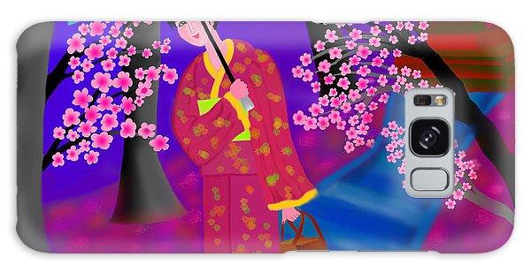Cherry Blossoms Galaxy Case by Latha Gokuldas Panicker