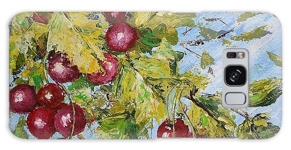 Cherry Breeze Galaxy Case by Kathleen Pio