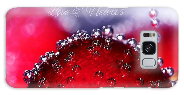 Cherry Fizz Hearts With Love Galaxy Case by Tracie Kaska