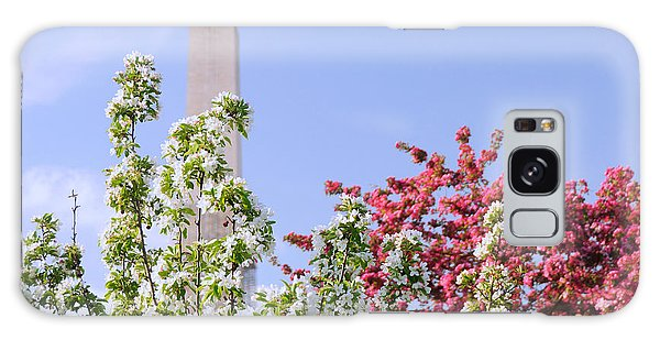 Cherry Trees And Washington Monument Four Galaxy Case