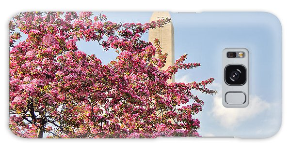 Cherry Trees And Washington Monument One Galaxy Case