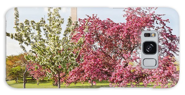 Cherry Trees And Washington Monument Three Galaxy Case