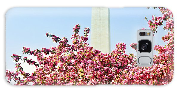 Cherry Trees And Washington Monument Two Galaxy Case