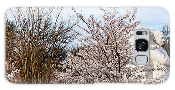 Martin Luther Galaxy Case - Cherry Trees In Front Of A Memorial by Panoramic Images