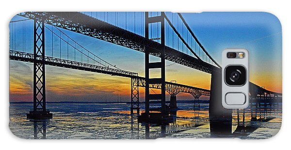 Chesapeake Bay Bridge Reflections Galaxy Case