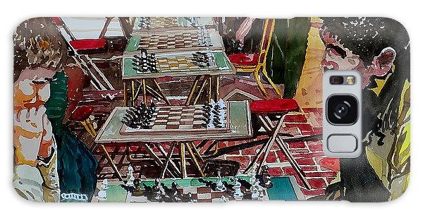 Chess Match On Market Street Galaxy Case
