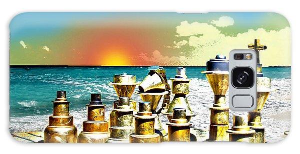 Galaxy Case - Chess On Beach by Frank Savarese